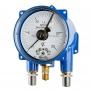 ДМ2005фСг1Ex, ДВ2005фСг1Ex, ДА2005фСг1Ex Манометр, вакуумметр, мановакуумметр взрывозащищённый электроконтактный сигнализирующий