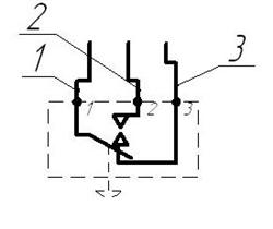 Схема электрическая подключения ДЕ-57